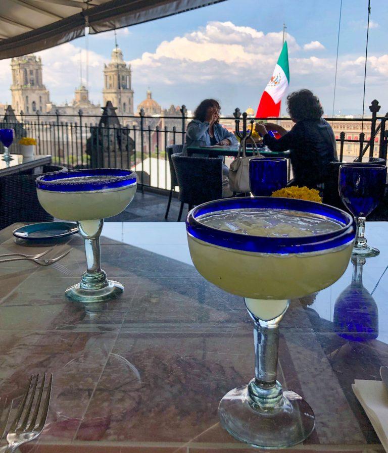 Margaritas at Gran Hotel Mexico City