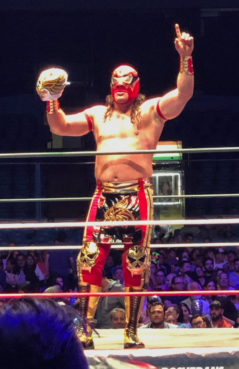 Luchadore with Mask Mexico City