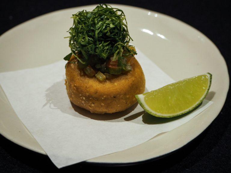 Taco with Green Garnish Pujol Mexico City