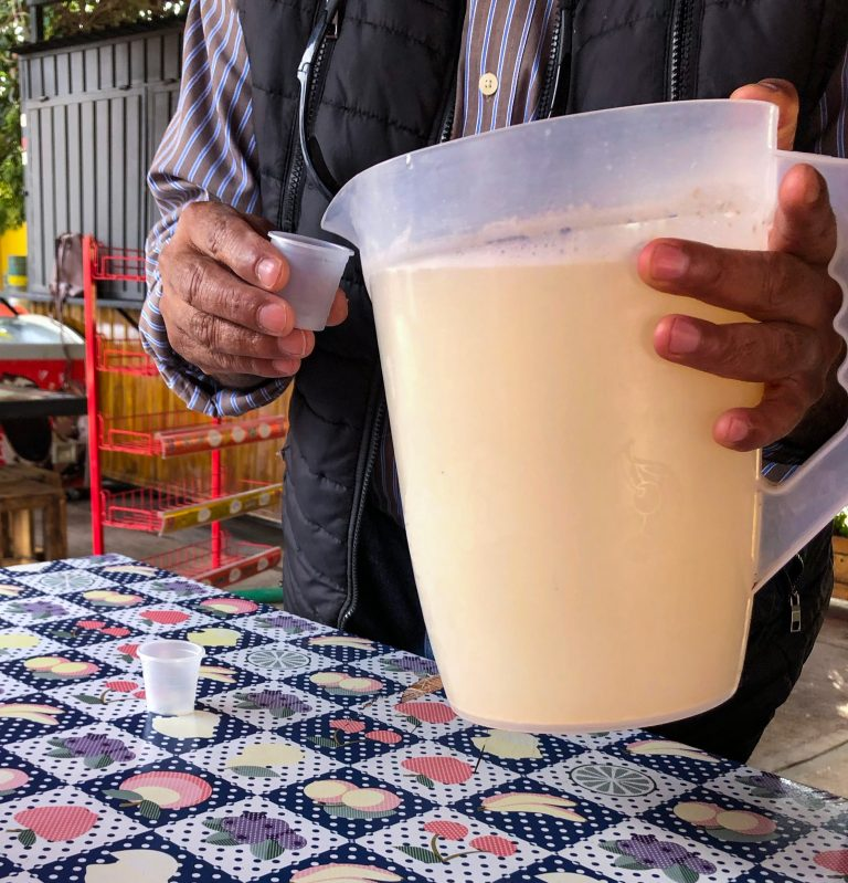 Pulque Drink in Teotihuacan Mexico