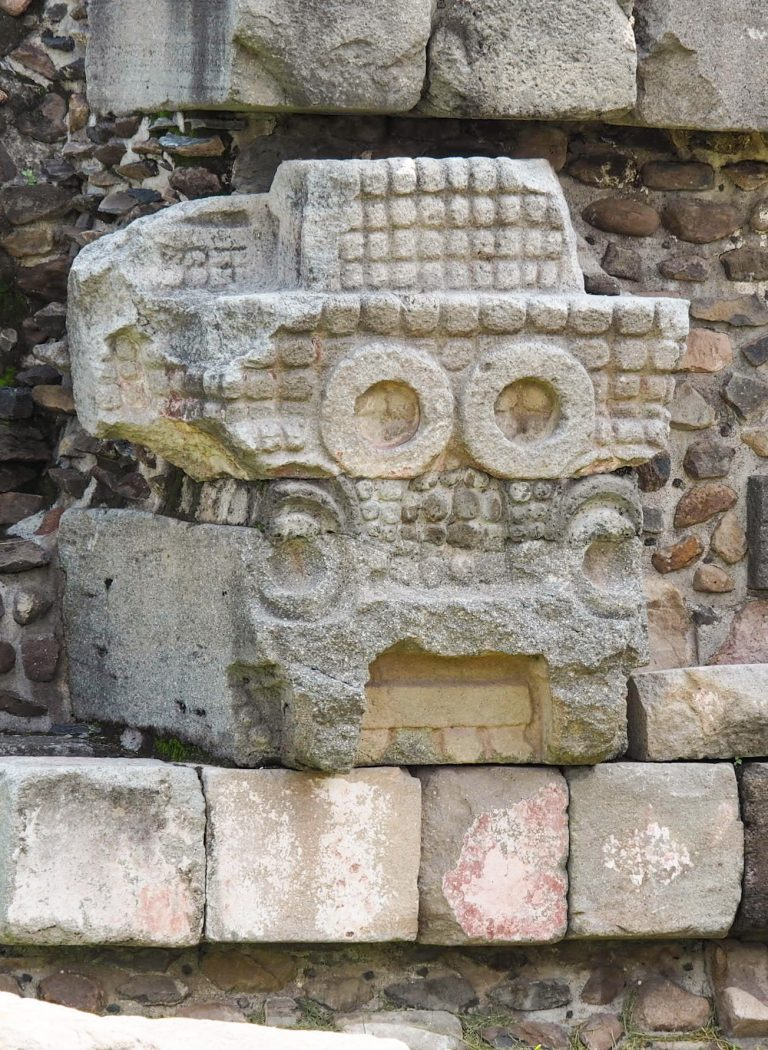 Serpent Head Statue Teotihuacan