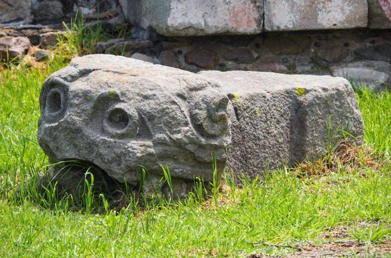 Broken Statue at Teotihuacan