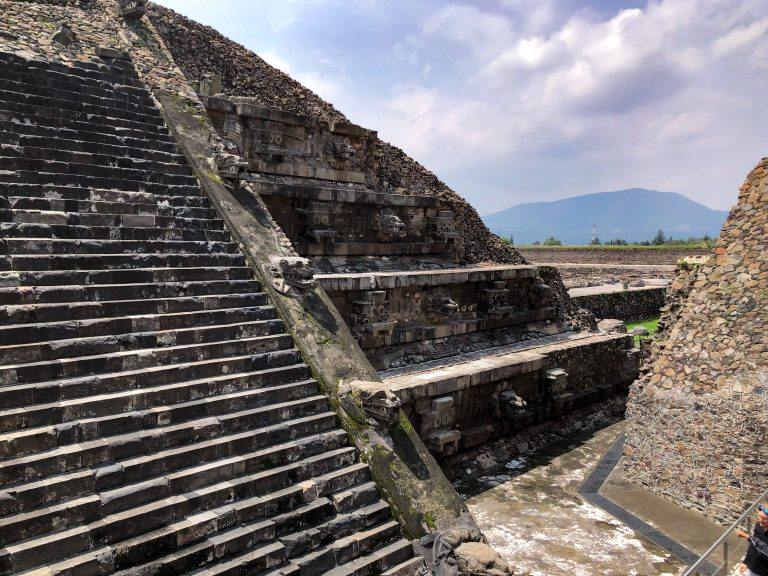 Inside of the Temple of the Feathered Serpent Teotihuacan