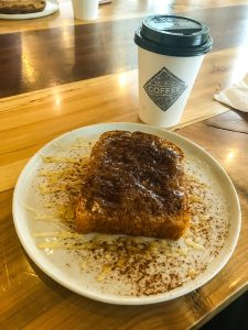 Coffee and Toast at Not Just Coffee in Charlotte