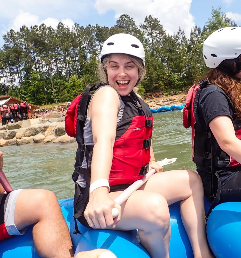 Desi on Raft at Whitewater Center in Charlotte