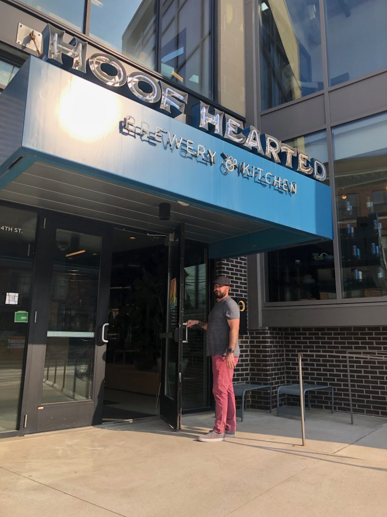 Hoof Hearted Brewing Entrance Columbus