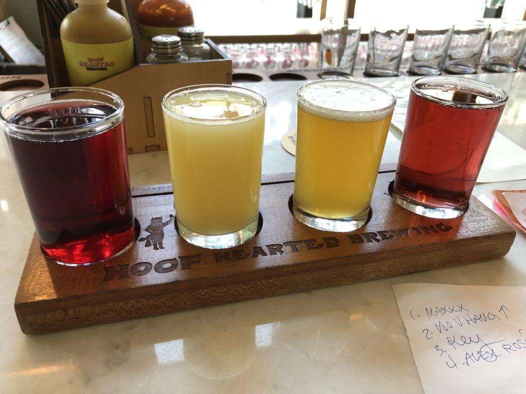 Hoof Hearted Brewing Beer Flight