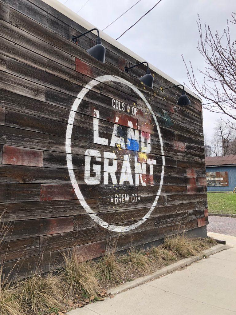 Land Grant Brewing Sign Columbus Ohio