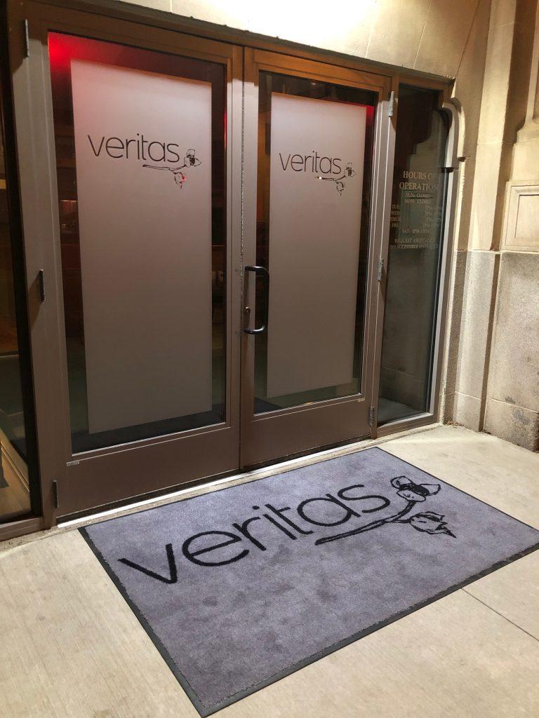 Entrance to Veritas Restaurant Columbus