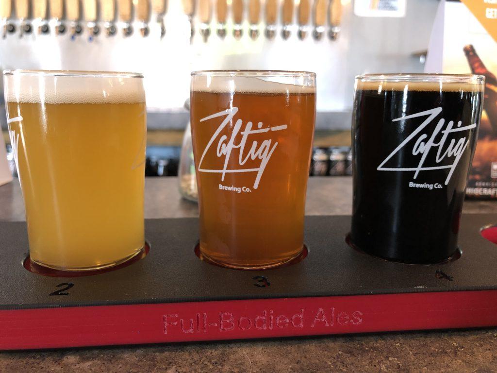 Zaftig Brewery Tasting Flight