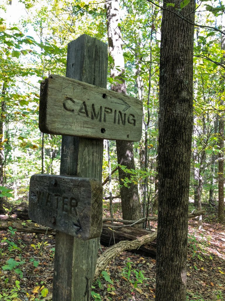Sign on Appalachian Trail
