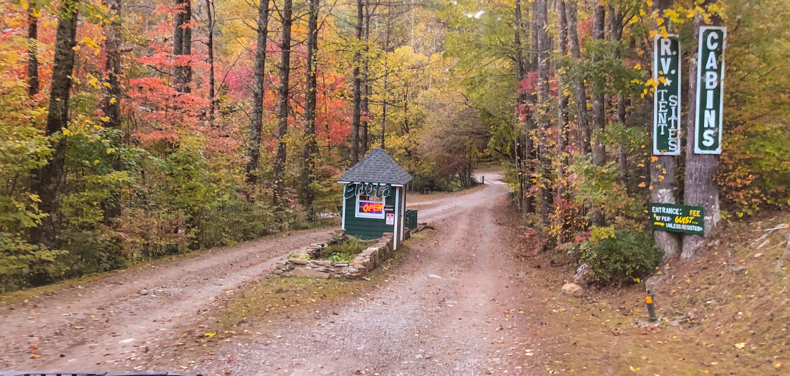Enota Mountain Retreat Entrance