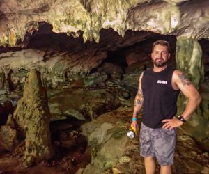Chris at Conch Bar Caves in Middle Caicos