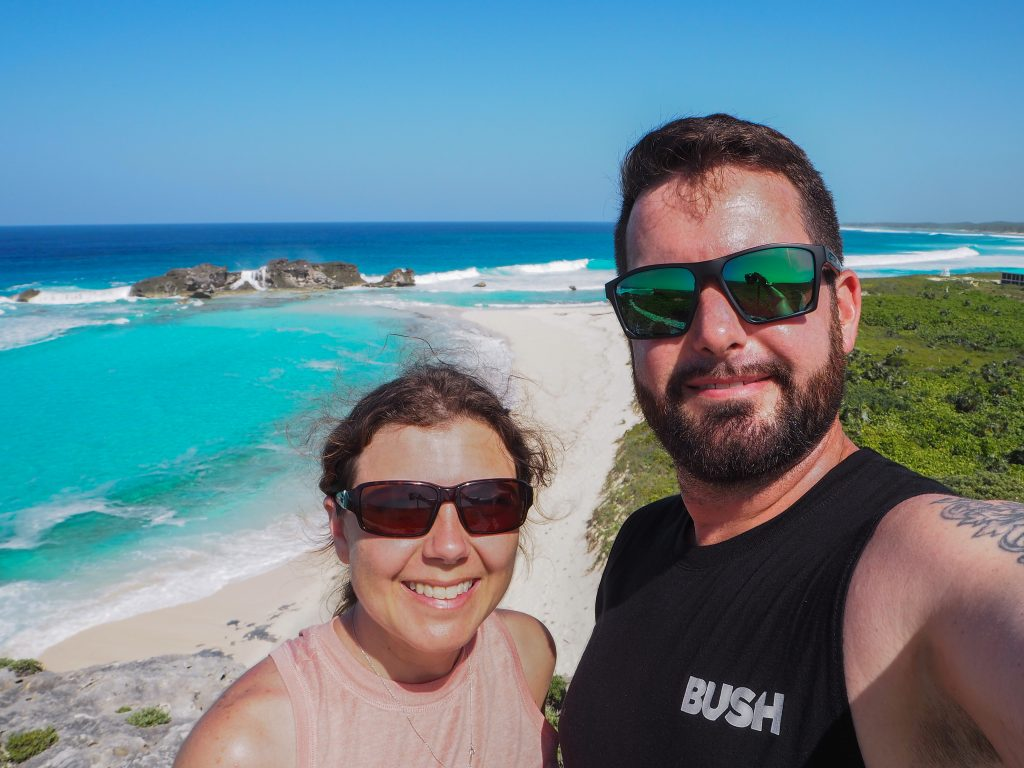 Chris and I at Dragon Cay on Middle Caicos