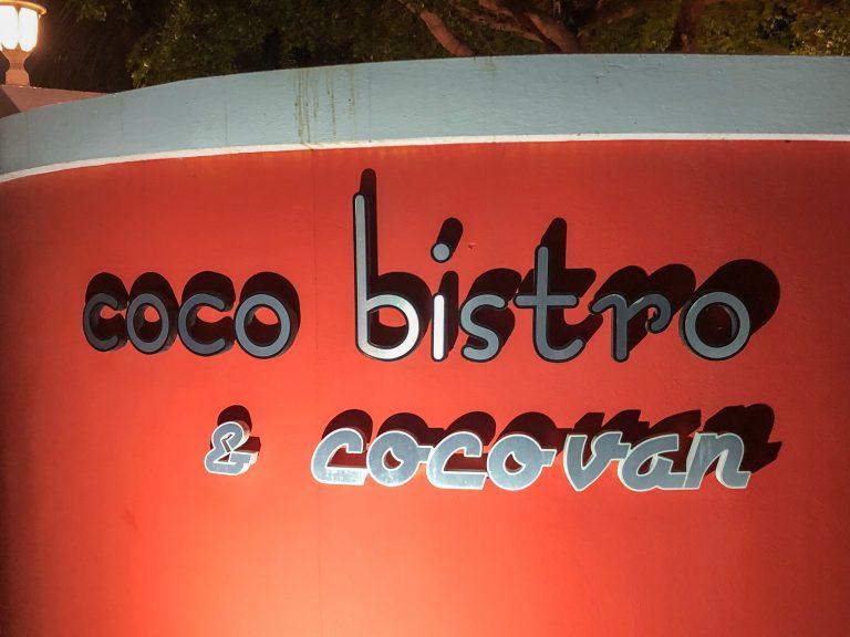Coco Bistro Sign Turks & Caicos