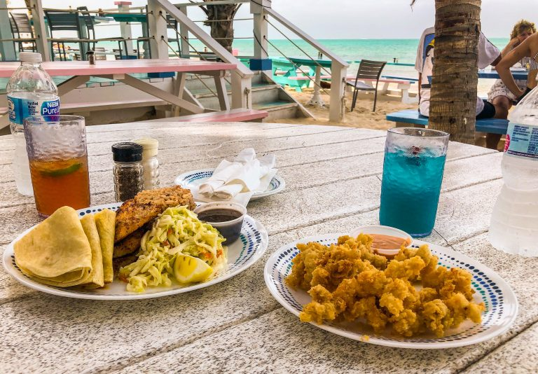Lunch at Da Conch Shack Turks & Caicos
