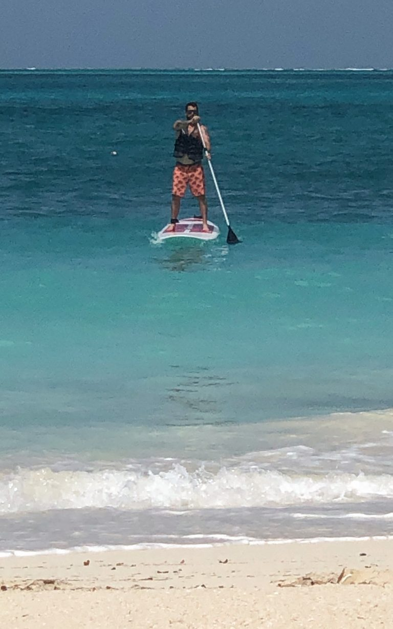 Chris on Paddle Board Turks & Caicos