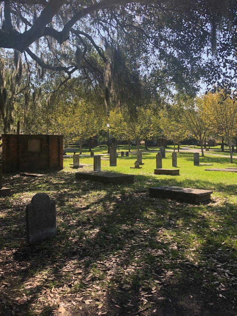 Graves at Colonial Park Cemetery in Savannah GA