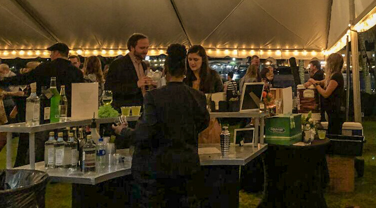 Savannah Food and Wine Festival tents at grand reserve tasting