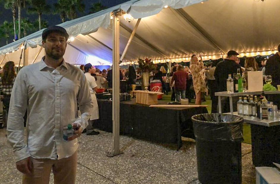 Chris at Savannah Food and Wine Festival Grand Reserve Tasting