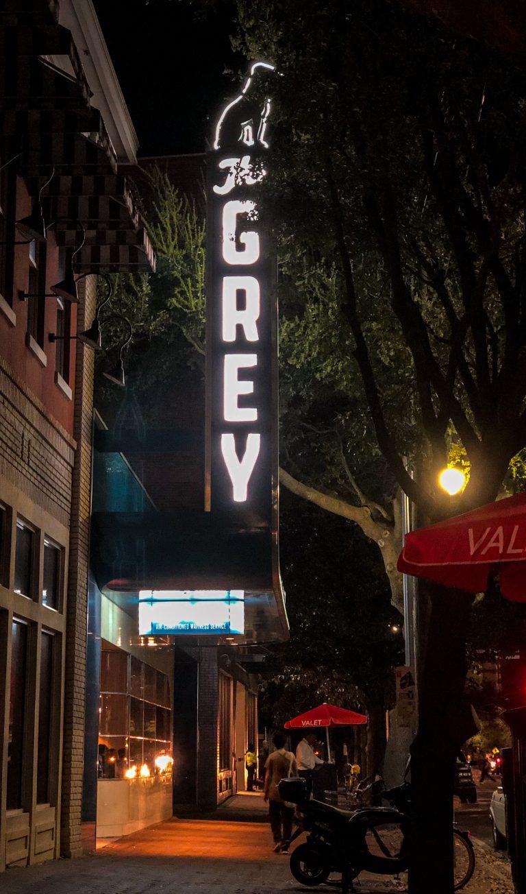 Sign at The Grey in Savannah GA