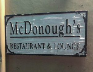 McDonoughs Pub Sign Savannah