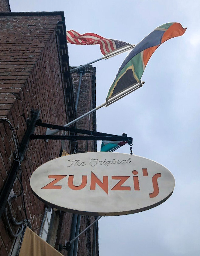 Sign at Zunzis in Savannah GA