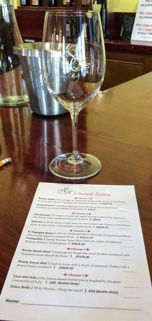 Serenity Cellars Wine Glass