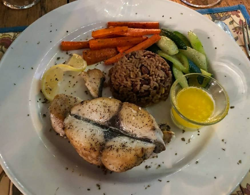 Sea Bass at the Hermitage Nevis