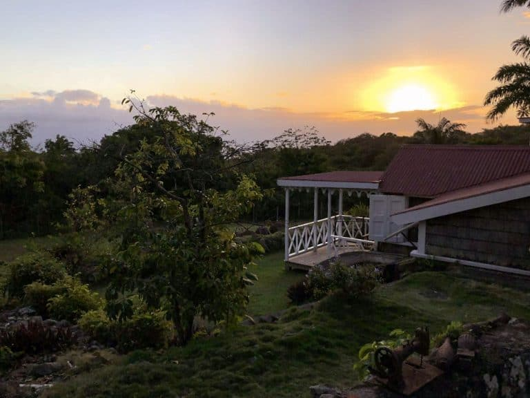 Sunset at the Hermitage Nevis