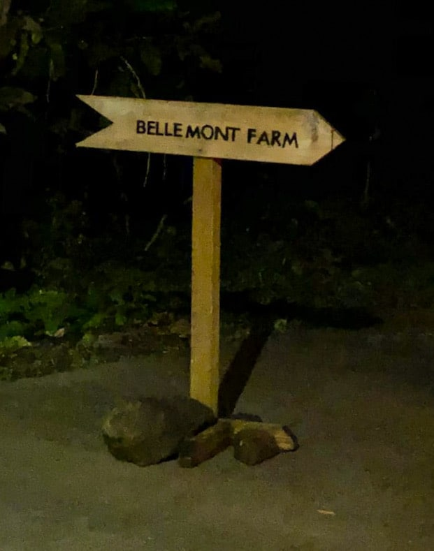 Belle Mont Farm Sign