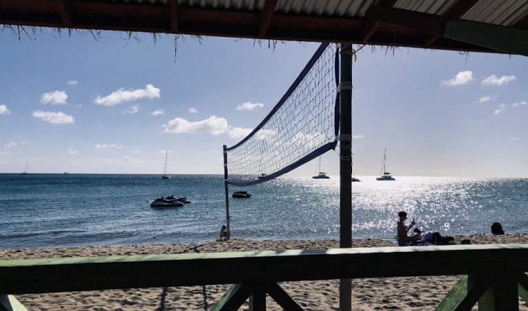 Beach view at Chinchillas - St Kitts