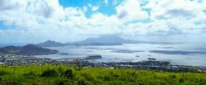 View of island and ocean from St Kitts