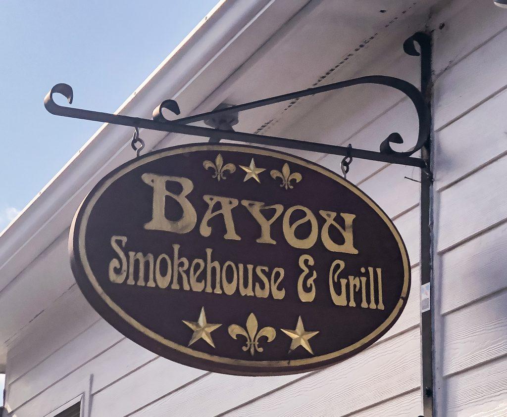Bayou Smokehouse & Grill Sign