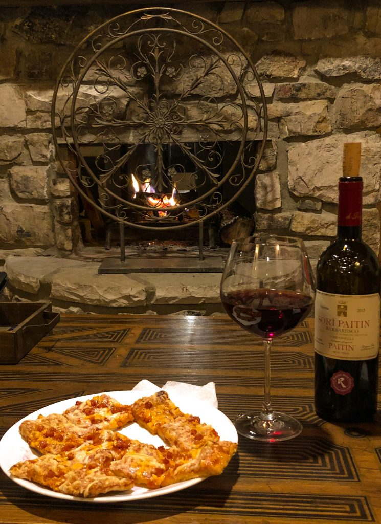Beech Mountain Airbnb Fireplace and Dinner