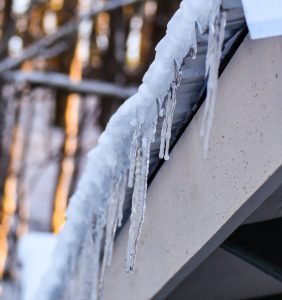 Beech Mountain Airbnb Icicles on Gutter
