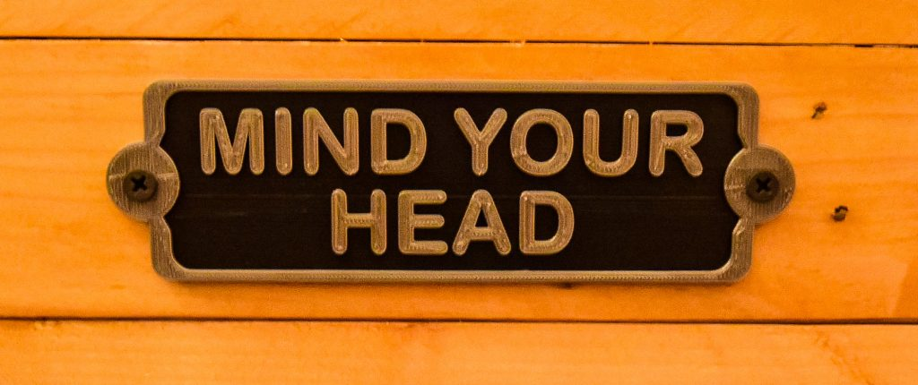 Beech Mountain Airbnb Sign Says Mind Your Head