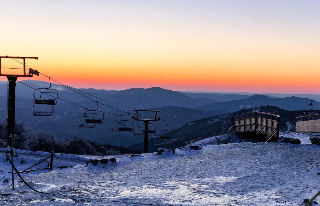 Sunset at Beech Mountain Resort