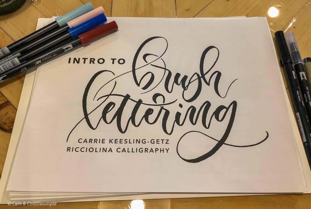 Garage Door Studio Brush Lettering Class
