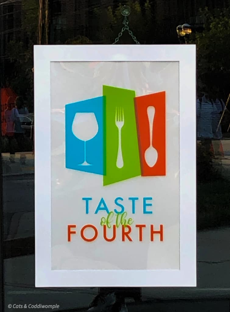Taste of the Fourth Event Sign